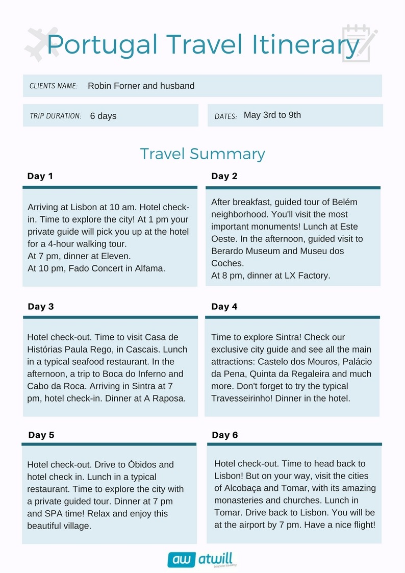 Portugal Travel Consulting and Itinerary Design - AtWill ...